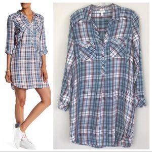 Soft Joie Dashalynn Plaid Mini Shirtdress Tunic
